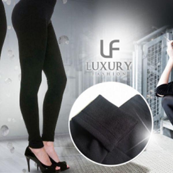 BEZEŠVÉ TERMO LEGÍNY - 3 kusy v balení v černé barvě!