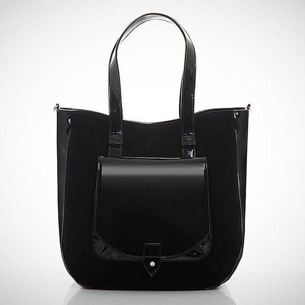 Dámská černá kabelka se semišovou částí Felice