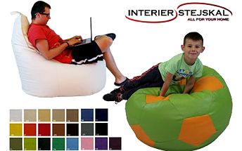 Designové sedací vaky v pestrých barvách