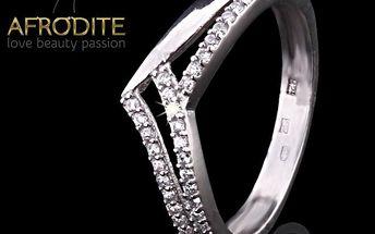 Dámský elegantní stříbrný prsten Afrodite