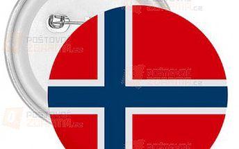 Placka Vlajka Norsko a poštovné ZDARMA! - 9999914840
