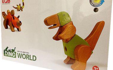 Dřevěná stavebnice KLIKIT360 dinosauři