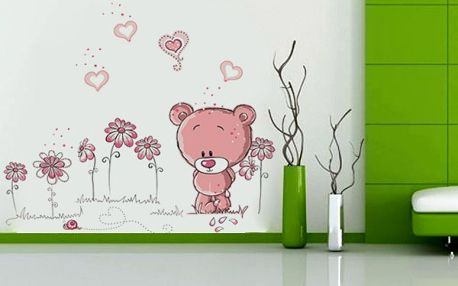 Roztomilá samolepka na zeď s medvídkem