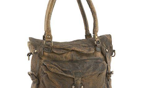 Dámská hnědá kabelka s ramenním popruhem Amylee