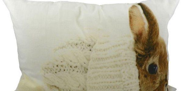 Úžasný polštář Rabbit in Hat 50x35 cm