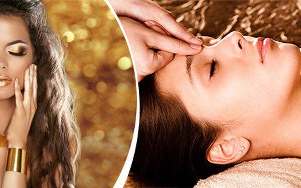 Luxusní masáž obličeje, krku a dekoltu s tekutým Marockým zlatem - arganovým olejem