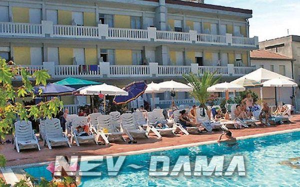 Hotel Germania, Bibione, Itálie, vlastní doprava, snídaně v ceně