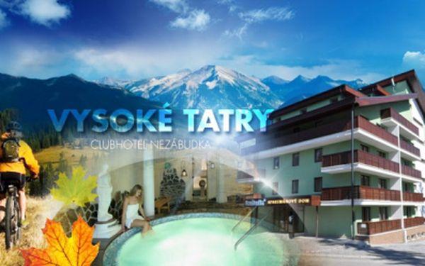 6denní zimní pobyt ve Vysokých Tatrách v hotelovém Resortu Nezábudka**** s PLNOU PENZÍ a WELLNESS BALÍKEM!