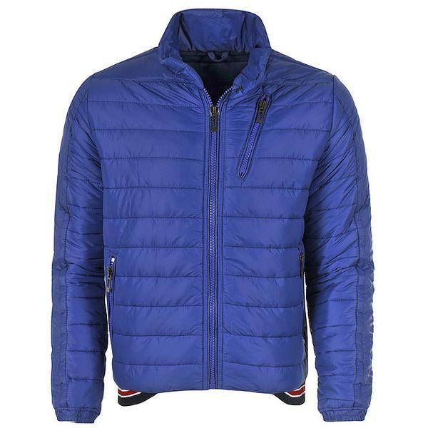 Pánská zimní prošívaná bunda v modré barvě Giorgio Di Mare