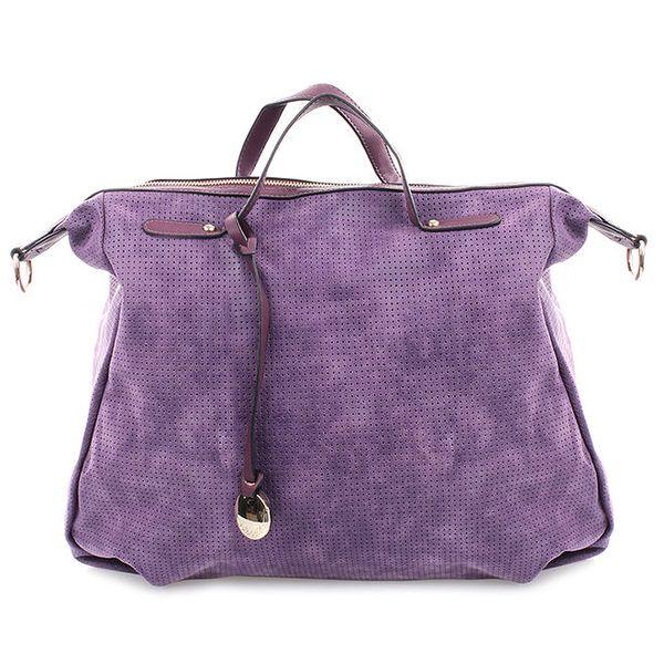 Dámská fialová kabelka s perforací Bessie