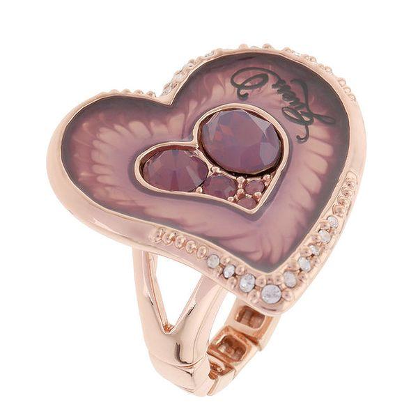 Dámský prsten ve tvaru srdíčka Guess