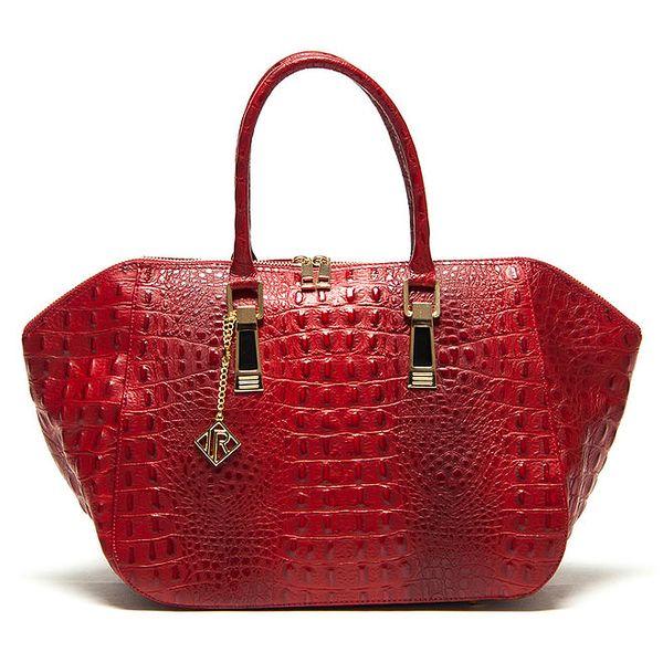 Dámská červená kabelka s platickým vzorem Isabella Rhea