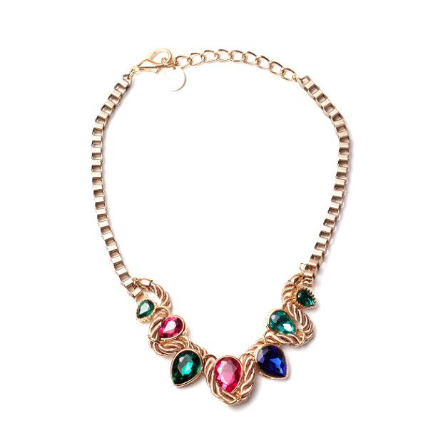 Dámský náhrdelník s barevnými slzičkami Invuu London