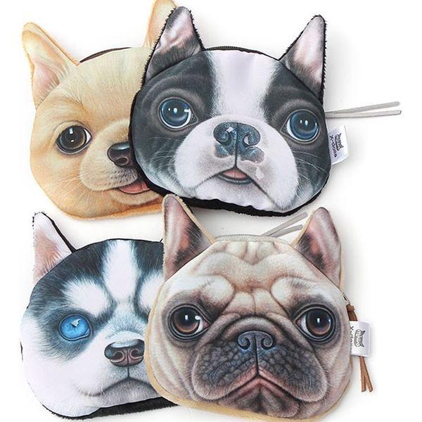 Malá peněženka v podobě psí nebo kočičí hlavy