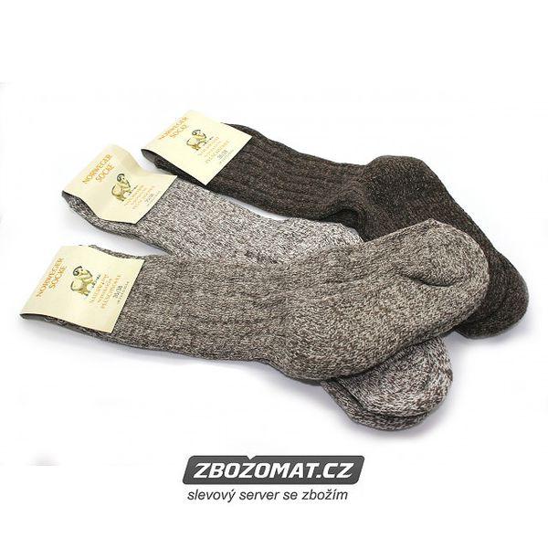 3 páry - Dámské hřejivé ponožky z ovčí vlny Norwegien!