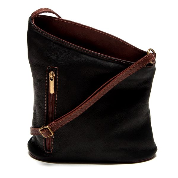 Dámská černá asymetrická kabelka Renata Corsi