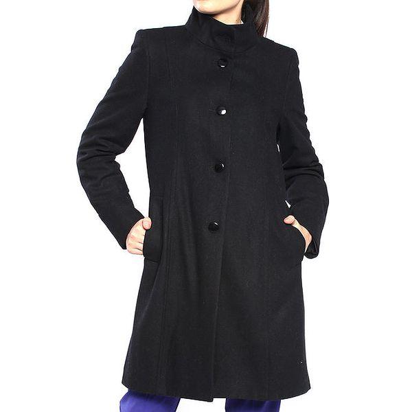 Dámský černý kabát s knoflíkovým zapínáním Vera Ravenna