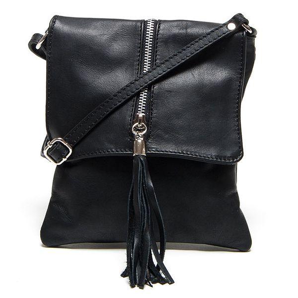Dámská malá černá kabelka se zipem Renata Corsi