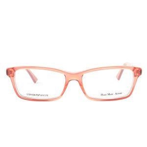 Červené transparentní brýlové obroučky Emporio Armani