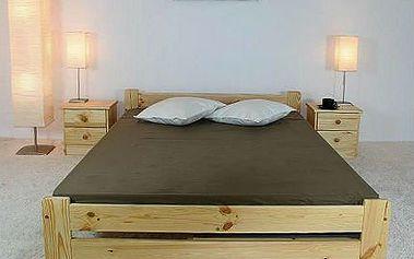 Postele VERONA z masivního dřeva i s matrací a roštem!