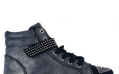 Dámské metalické kotníčkové tenisky Shoes and the City