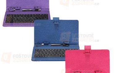 Pouzdro na tablet s USB klávesnicí pro 7″ tablety - růžové a poštovné ZDARMA s dodáním do 3 dnů! - 9999906830