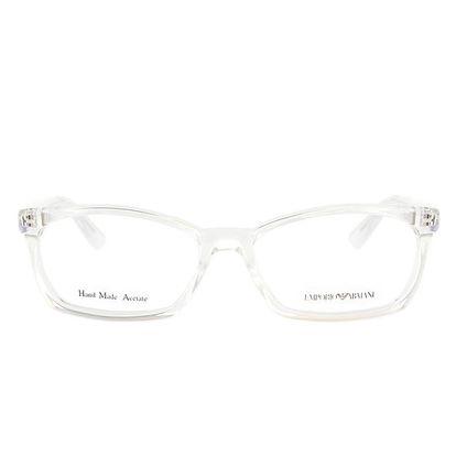 Bílé transparentní brýlové obroučky Emporio Armani