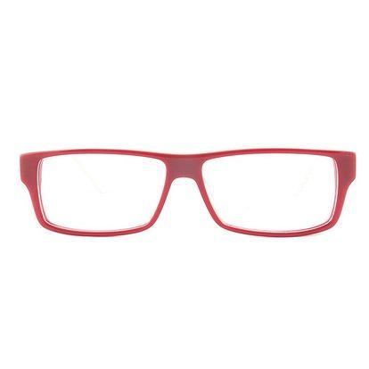 Dámské červené obroučky s kostkovanými stranicemi Emporio Armani