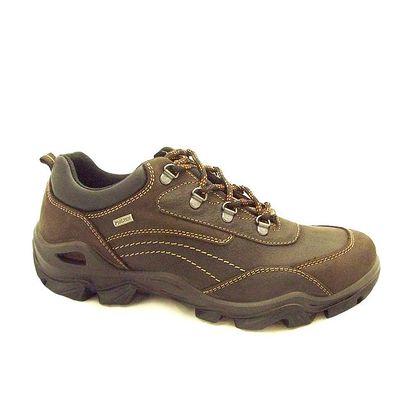 Pánské hnědé boty s prošíváním Numero Uno
