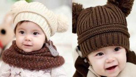 Roztomilá dětská čepička na přicházející studené dny