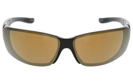 Černé sportovní sluneční brýle s hnědými skly Red Bull