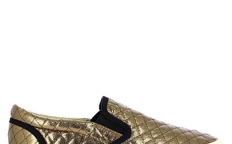 Dámské bronzové tenisky s prošíváním Shoes and the City