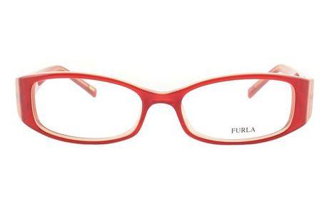 Dámské červené obroučky s bytelnými stranicemi Furla