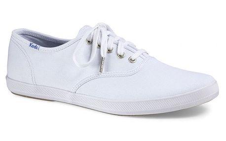 Pánské bílé tenisky s bílou podrážkou Keds