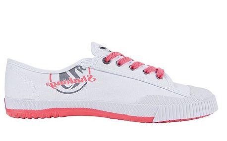 Dámské nízké bílo-červené tenisky se znakem Shulong