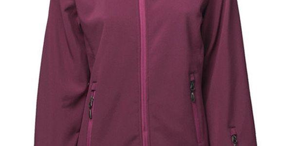 Dámská tmavě růžová softshellová bunda Fundango