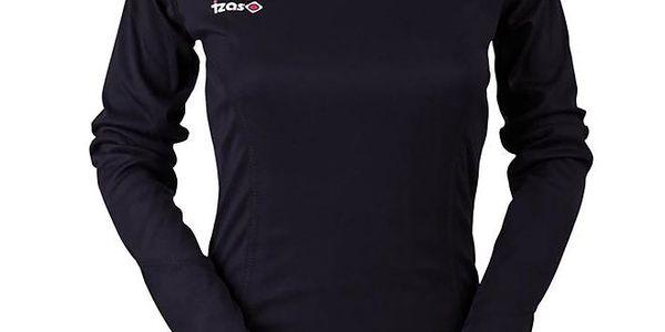 Dámské černé funkční tričko s dlouhým rukávem Izas