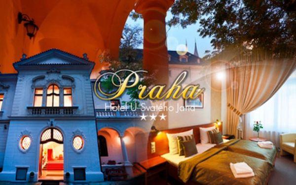 3DENNÍ pobyt pro 2 os. v historickém centru Prahy se snídaní v Hotelu U Svatého Jana poblíž Karlova náměstí!