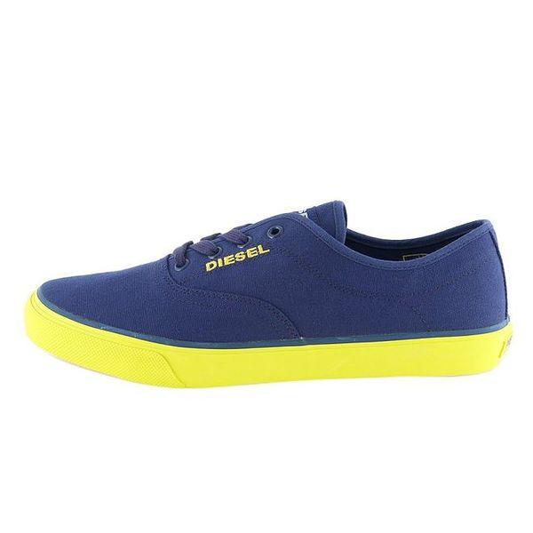 Dámské modré tenisky se žlutou podrážkou Diesel