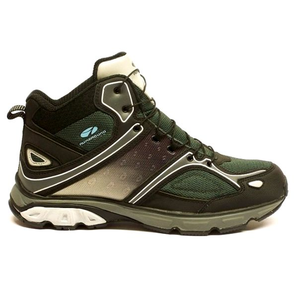 Pánské černo-zelené kotníčkové trekové boty Numero Uno