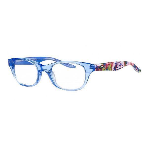 Světle modré transparentní obroučky s barevnými stranicemi Kenzo