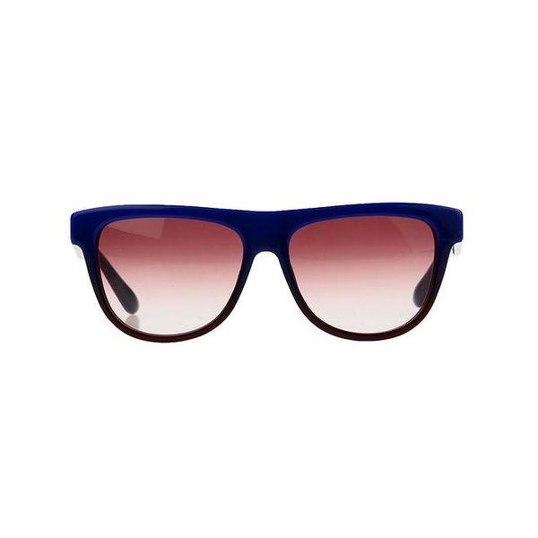 Unisex modré sluneční brýle s pruhovanými stranicemi Marc by Marc Jacobs