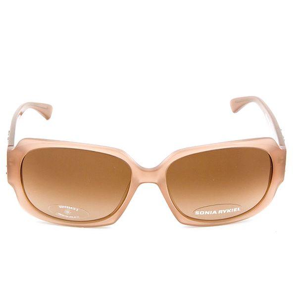 Hranaté sluneční brýle v béžové barvě Sonia Rykiel