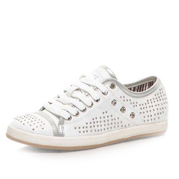Dámské bílé tenisky s kovovými cvočky Big Star