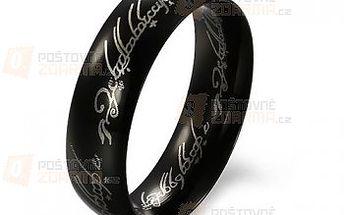 Pánský módní černý prsten a poštovné ZDARMA! - 9999914938