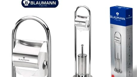 Praktický a stabilní stojan s držákem na toaletní papír a WC štětkou od značky Blauman