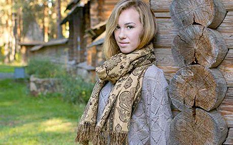 Originální kašmírový šál - různé barvy a vzory