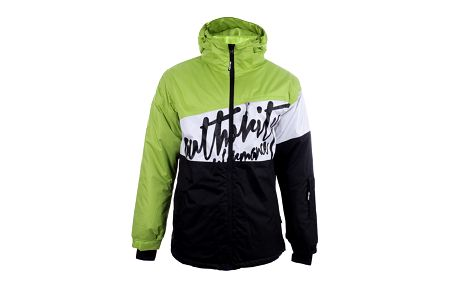 Pánská lyžařská bunda s černým nápisem Authority