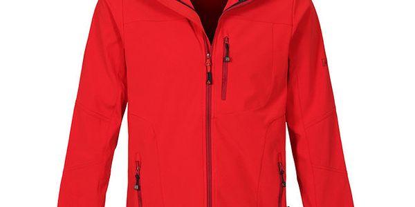 Pánská červená softshellová bunda Bergson
