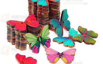 Knoflíky ve tvaru motýlků - 50 kusů v balení a poštovné ZDARMA! - 9999914931